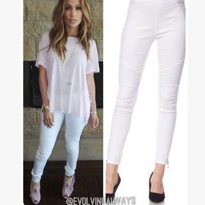 Evolving Always Pants - White Moto Jeggings Can Be Worn Any Season